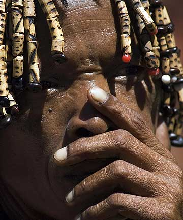 A South African Khoisan, the earliest inhabitants of Africa's southern tip.