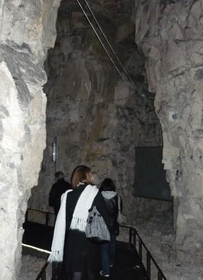 SENSE OF SPACE: Tourists explore the restored tunnels.