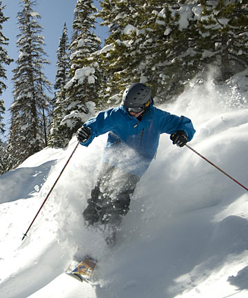 DREAM RUNS: There are gentle beginner runs, and treed areas where the powder snow lasts.