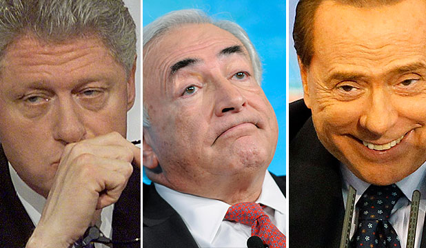 Bill Clinton, Dominique Strauss-Kahn and Silvio Berlusconi