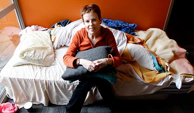 ANSWERING A NEED: Wendy Harnett buys blankets, linen and towels for Wellington's Night Shelter.
