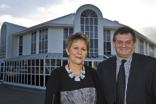 Owners of The Pavillions Hotel Maureen and Graeme Horncastle.