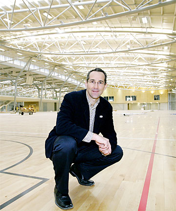ROOM FOR THE WHOLE SPORTS FAMILY:  Craig Hutchings at the new Kilbirnie Indoor Community Centre. The centre is due to open later this month.