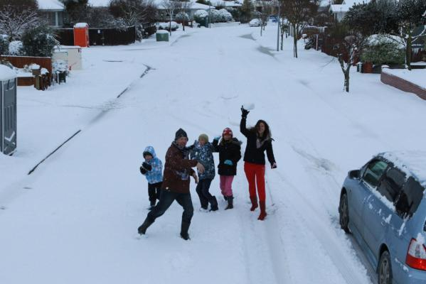 Snow in Christchurch