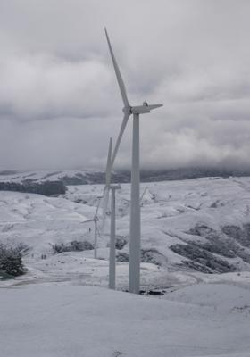Snow - wind farm
