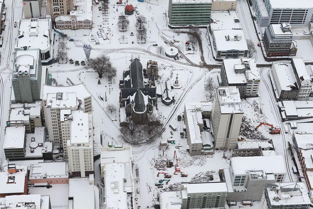 ChristChurch Cathedral in snow