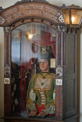 The antique Gypsy fortune teller machine, that sat for decades in a Virginia City restaurant that has received multimillion dollar offers from curators including magician David Copperfield.