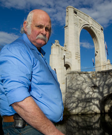Christchurch RSA president Russell Barron is disappointed the city council will not make temporary repairs to the Bridge of Remembrance.