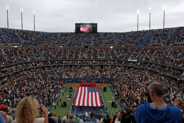The 10th anniversary of the 9/11 terrorist attacks is commemorated ahead of the US Open women's singles final.