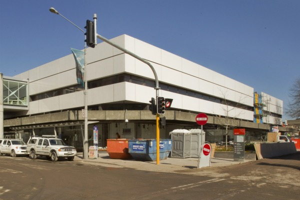 Ballantynes on the corner of Colombo St and Cashel Mall will mark the start of the city rebuild with a concrete pour on the new first floor foundation.