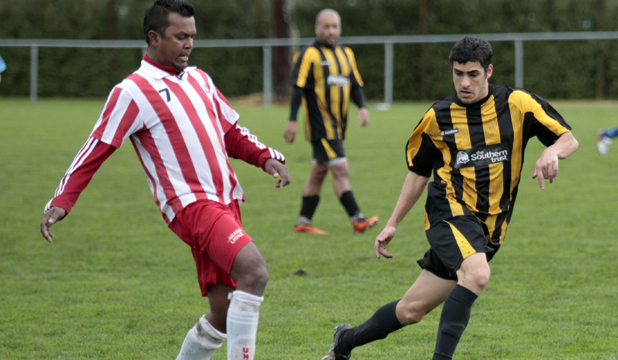 The Scootish Cup final of the Waikato Sunday Soccer League.