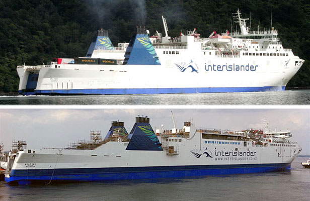 ferry before and after