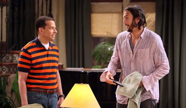 Two and a Half Men - Ashton Kutcher debuts