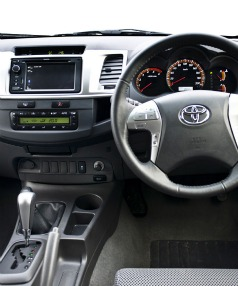 New interior: a more horizontal approach gives the HiLux cabin a more sedan-like appearance.