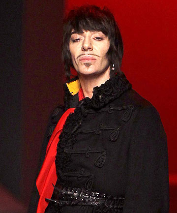 Star fashion designer John Galliano.