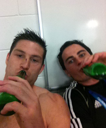 Cory Jane (L) and Zac Guildford