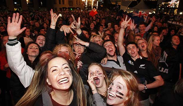 PARTY CITY: Central Wellington became one big fanzone as crowds swamped the city centre to watch the final.