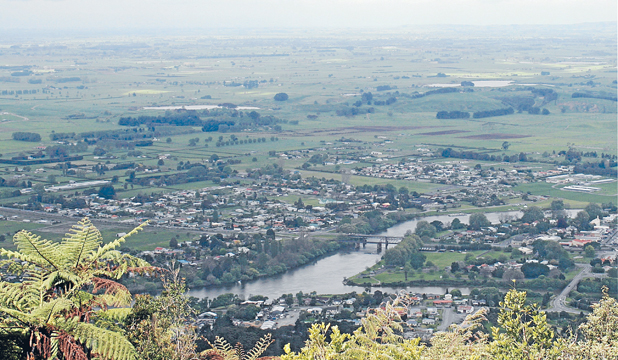 COMING CLEAN: The Waikato River, as viewed from the Hakarimata summit, is a complex web of lakes, tributaries, streams and wetlands - and the job of cleaning it up is equally complex.