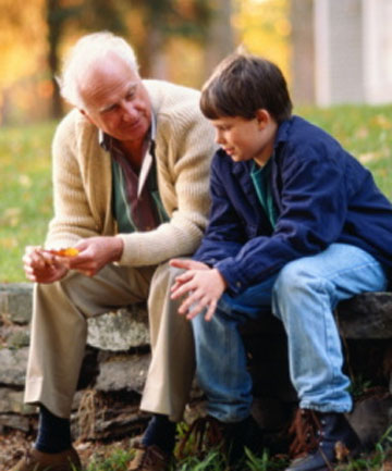 Old man with grandson