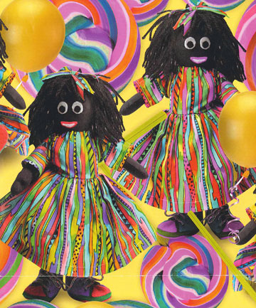 OFFENSIVE? The golliwog paper found in some discount stores.