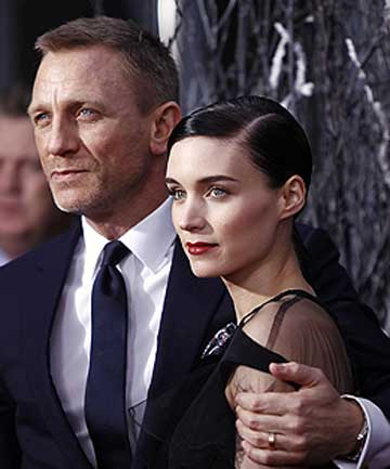 HOLLYWOOD ADAPTION: Cast members Daniel Craig and Rooney Mara arrive for the ...