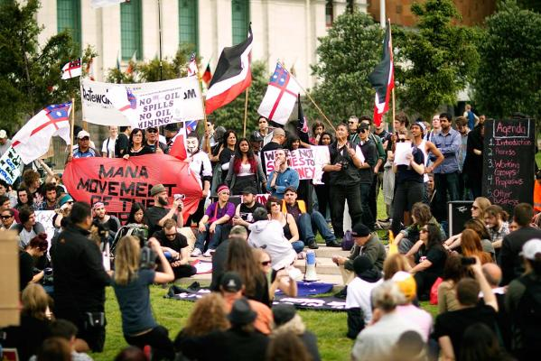 Wall St protests - Auckland
