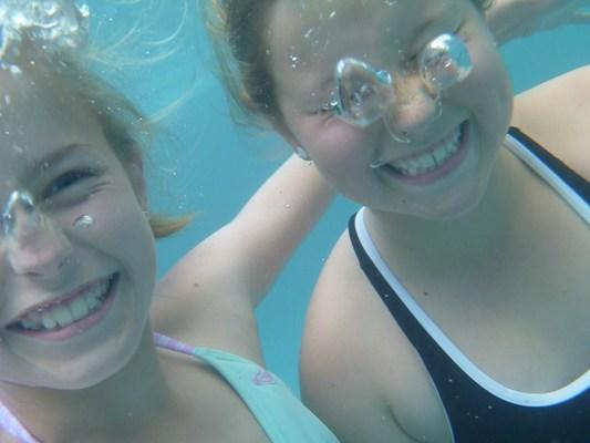 BUBBLE EYES: Hamilton 10-year-old Morgan Shackleton sent in this underwater photo taken in the family pool.