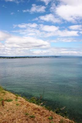 PICTURE PERFECT: Courntey Lynch made the most of a brief spell of sunshine to capture a picturesque Lake Taupo.