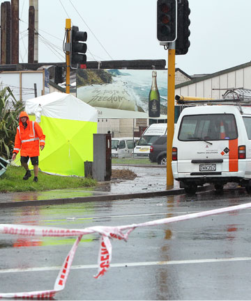 CRASH SCENE: Police say the victim's family are distraught.