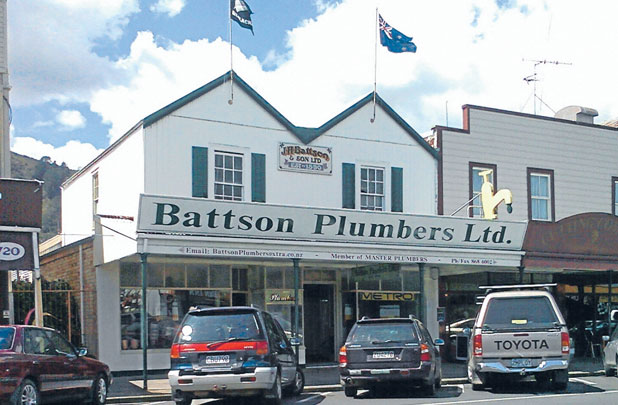 STANDOUT GEM: The Battson Plumbers building in Thames' main street.