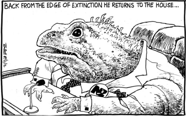 Wednesday, February 8: Winston Peters back from extinction