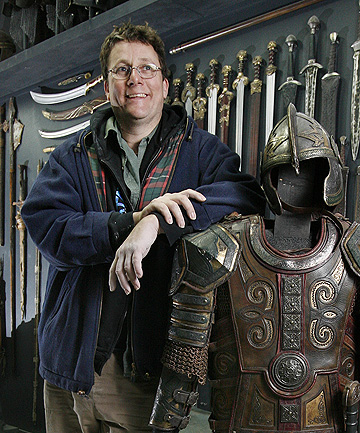 NEW ZEALANDER OF THE YEAR: Sir Richard Taylor with some of the props from Lord of the Rings.
