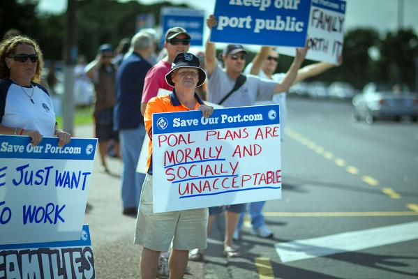 Ports of Auckland Strike