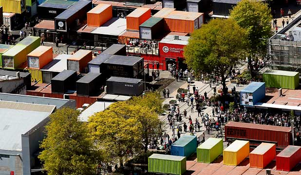 Christchurch's temporary mall of shipping containers