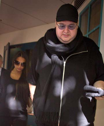 kim dotcom and wife