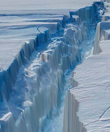 Antarctic crack