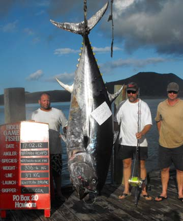 Nathan Adams, pacific blue fin tuna