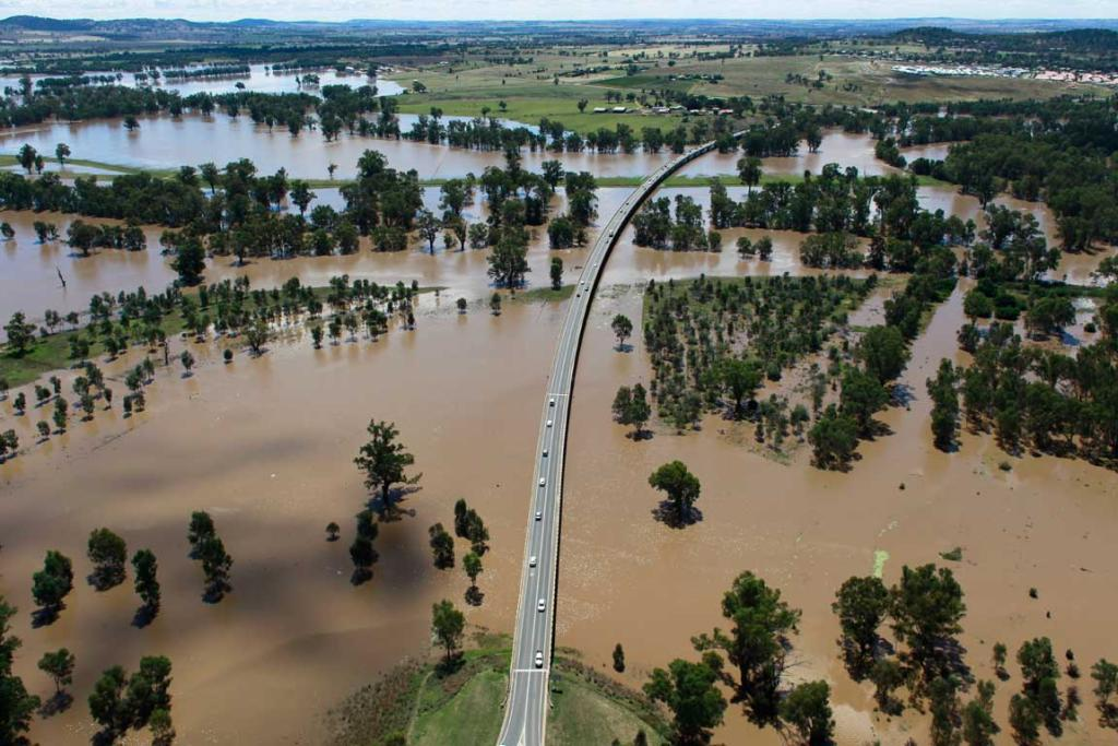 Flooding at Wagga Wagga on March 5, 2012.