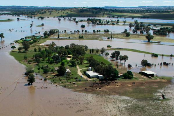 Flooding at Gumly Gumly near Wagga Wagga on March 5, 2012.