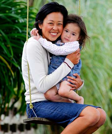 Michelle Wanwimolruk and daughter Mei-Mei