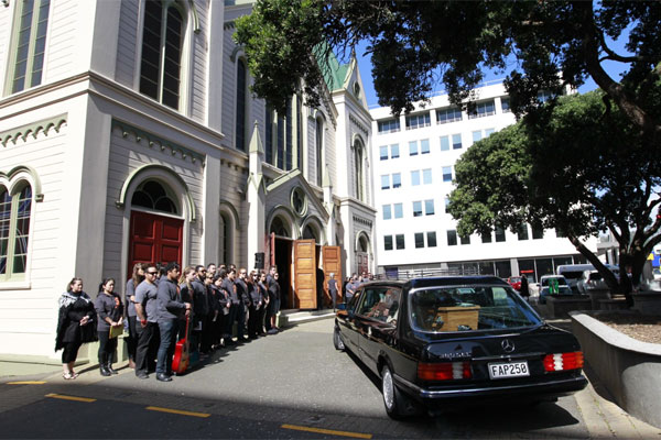 Sir Paul Callaghan funeral