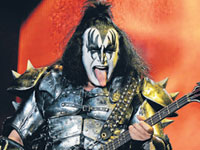 FACE OF KISS: Gene Simmons in classic action for Kiss.