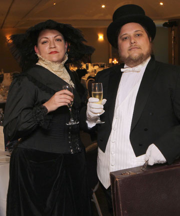 Angel McNamara of Auckland and Lemuel Lyes of Dunedin were among the diners whose entry was by boarding pass.
