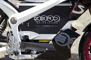 Zero S electric motorcycle.