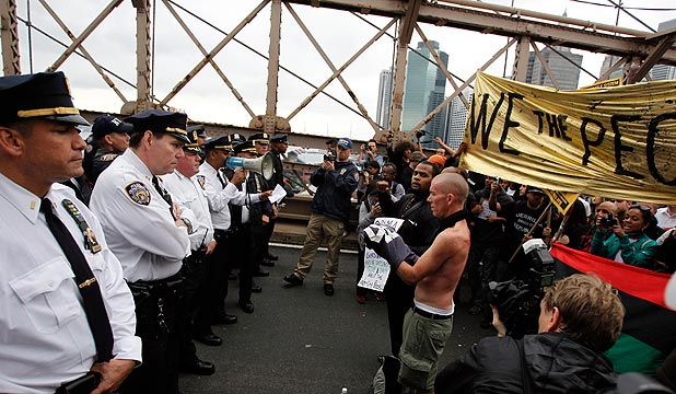 Occupy Wall Street at the Brooklyn Bridge