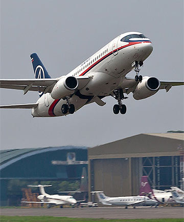 CRASH: The ill-fated Russian Sukhoi Superjet.