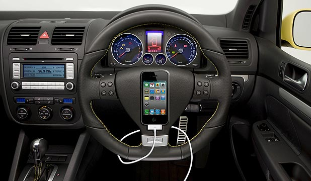 Apple is working on a iPhone style controller for your steering wheel.