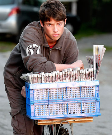 Kapiti paper boy Alex McLaughlin