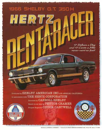 Car magazines in 1966 carried advertisements like this for the hot Mustangs, and bo