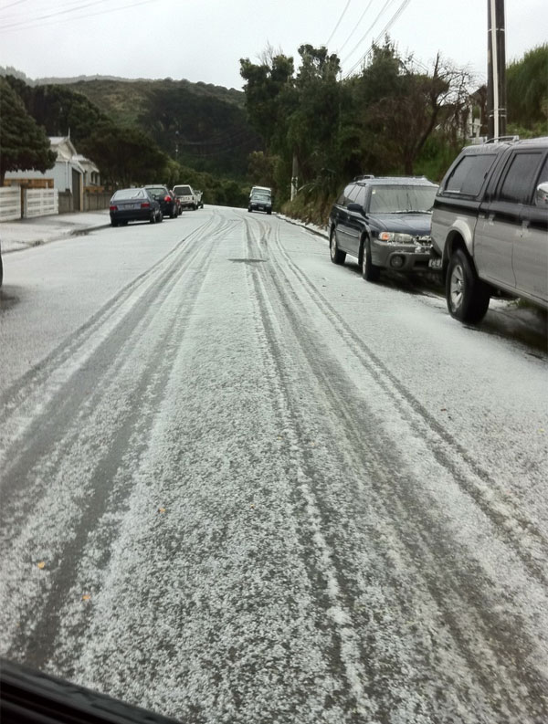 Wellington hail strom